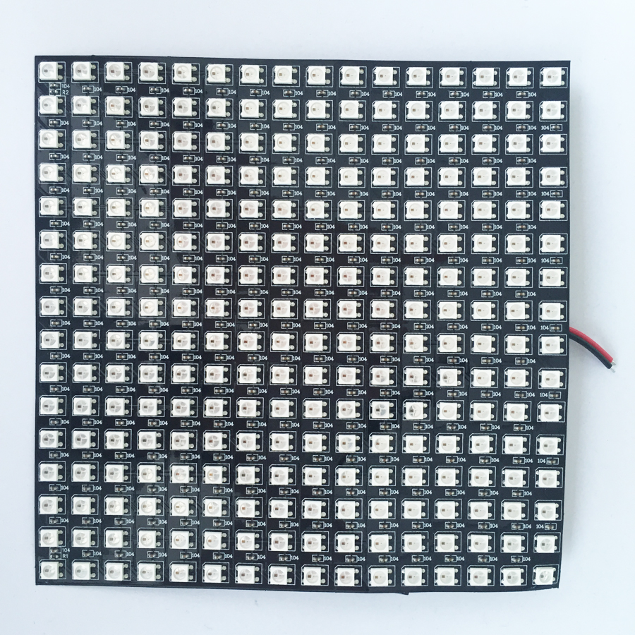 16*16pixels WS2812B led digital(ws2811 IC controlled) flex panel light,size:17cm*17cm,DC5V input(can make customized size) 32 8pixels sk6812 rgb addressable led digital flex panel light size 320cm 80cm dc5v input