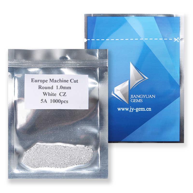 1000 pces aaaaa grau branco 0.8 5.0mm zircônia cúbica pedra corte redondo solto cz pedra pedras sintéticas para jóias