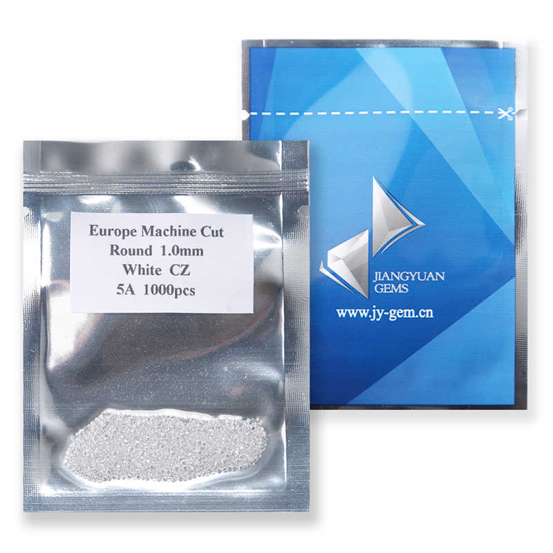 1000pcs AAAAA כיתה לבן 0.8 ~ 5.0mm Loose מעוקב Zirconia אבן עגול לחתוך זירקון אבן אבני חן סינטטי עבור תכשיטים