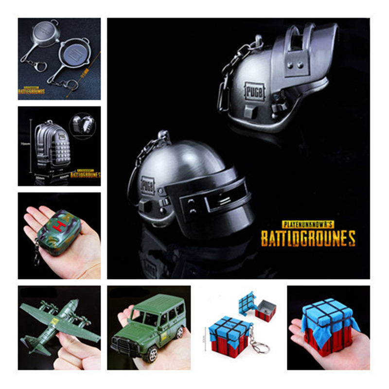 Beautiful Hot Playerunknowns Battlegrounds 13 Style 3d Keychain Pubg Helmet Backpack Pan Pendant Funny Kids Toy Accessories Cosplay Props Costume Props Novelty & Special Use