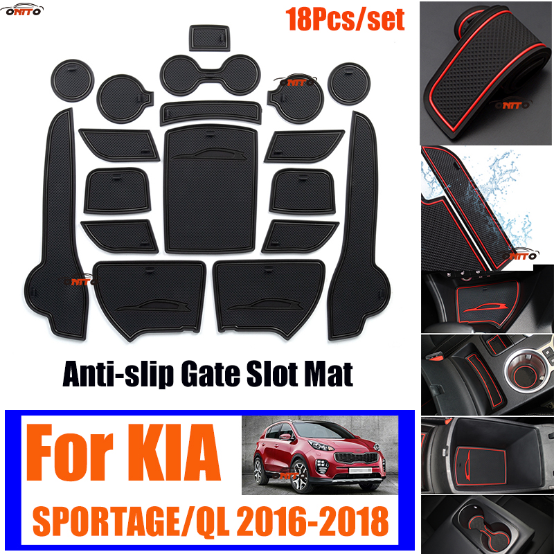 18Pcs/set For KIA SPORTAGE/QL 2016-2018 Anti-slip Door Groove Mat Covers Gate Slot Mat Covers Cup Cushion Mat Rubber Grid Pad 18Pcs/set For KIA SPORTAGE/QL 2016-2018 Anti-slip Door Groove Mat Covers Gate Slot Mat Covers Cup Cushion Mat Rubber Grid Pad