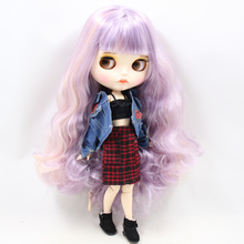 Factory Neo Blythe Doll Purple Pink Hair Jointed Body 30cm