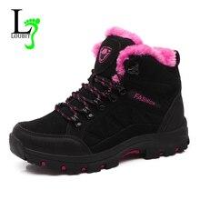 2020 sapatos de inverno botas de pele quente botas de borracha botas de neve das mulheres botas de camurça de vaca de borracha sapatos casuais botas mujer apartamentos