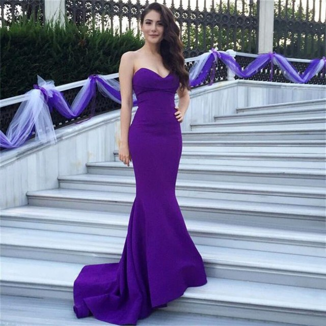 14279516baf0 Amazing Sexy Off Shoulder Purple Long Fitted Mermaid Prom Dresses 2019  Formal Engagement Party Evening dresses