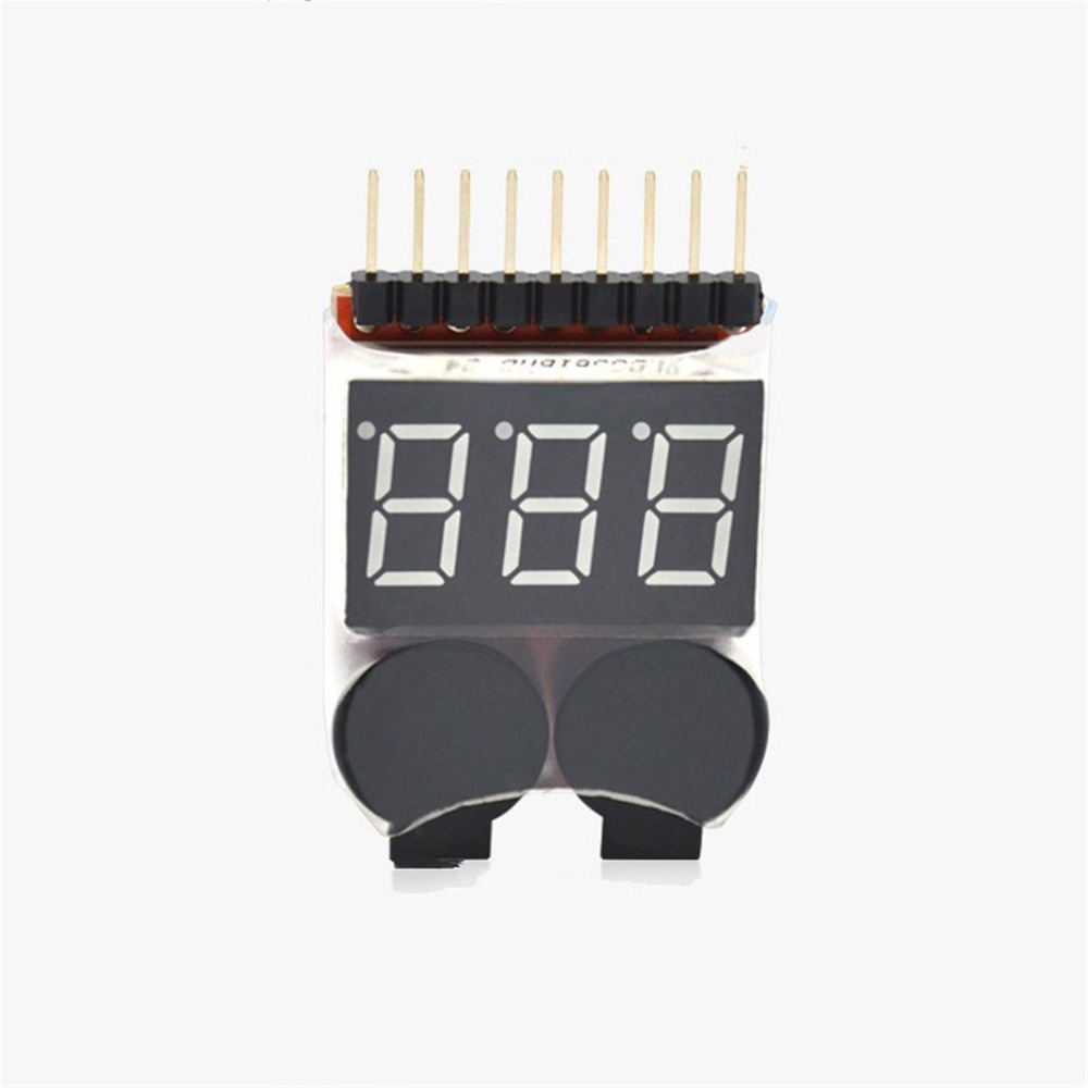 <font><b>2</b></font> In 1 Li-ion RC Lipo Battery Low Voltage Alarm 1-8S Buzzer Indicator Checker Tester <font><b>LED</b></font> Display Board <font><b>Module</b></font> image