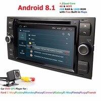 Car Multimedia Player GPS Android 8.1 2 Din For Ford/Mondeo/Focus/Transit/C MAX Car Radio Bluetooth DVR Auto radio Audio DAB MAP