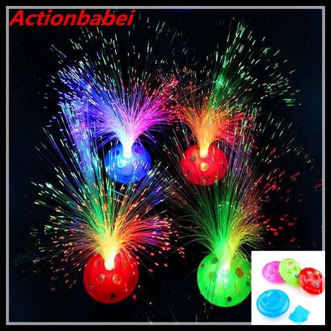 Eerlijk Actionbabei Nieuwe Kleurrijke Fiber Licht Fiber Filament Starry Kerst Speelgoed Prestaties Viering Lichten Props Lichtgevende Speelgoed Gift