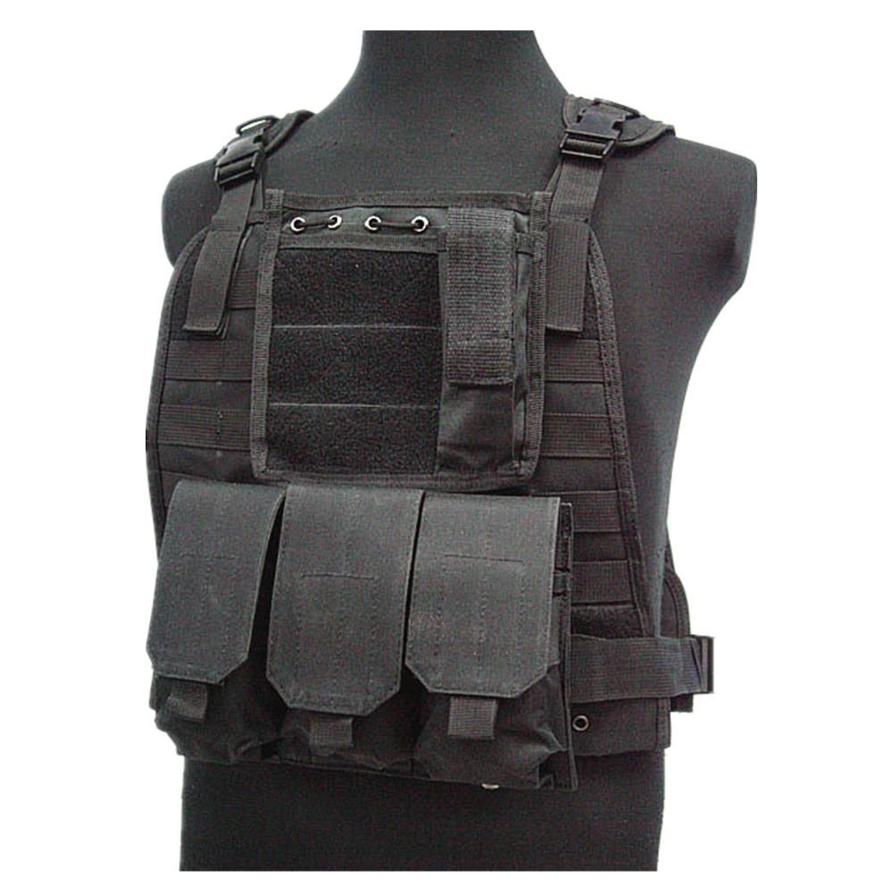 US Marine Assault Tactical Molle Plate Carrier Vest BK CB vest (1)