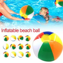 12PCS 30CM High Quality Inflatable Beach Ball Colorful Outdoor Water Sports Fun Swimming Pool Float Game For Kids Adult