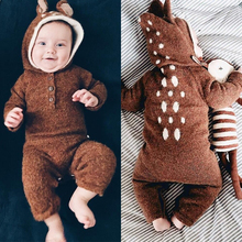 Tinypeople NEW Baby Knitted jumpsuits boys Cotton Plaid Playsuit Winter girls Overall Infant clothes toddler Onesie Rompers 2019