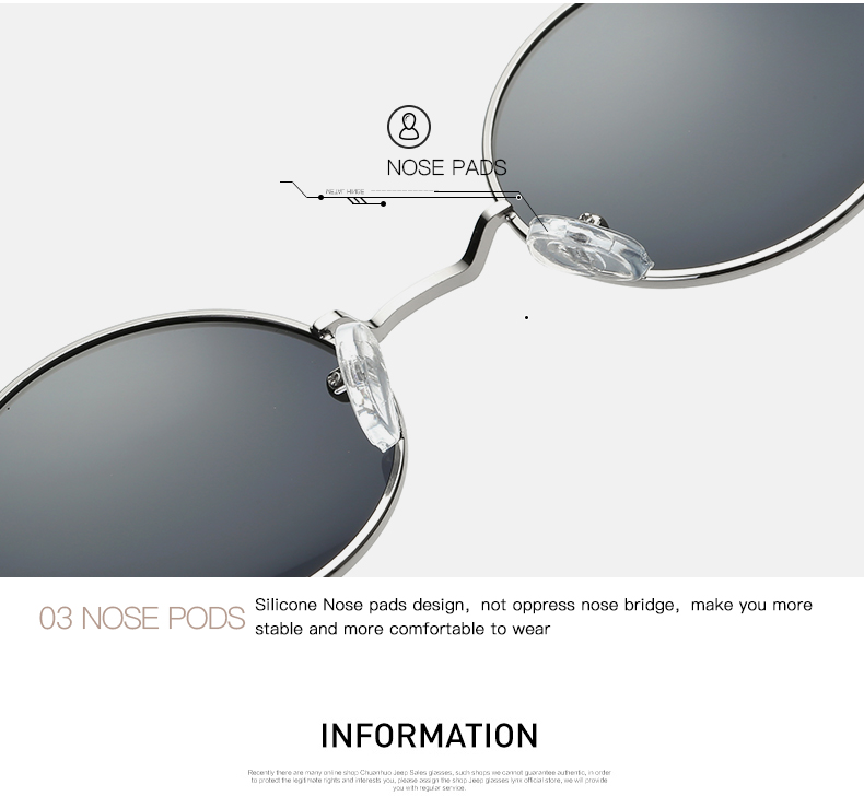 AEVOGUE Polarized Sunglasses For Men/Women نظارات شمسية للرجال وللسيدات بعدسات دائرية بلورايزد 11