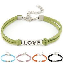 Charms Lady's Women Men Love Handmade Alloy Rope Charm Jewelry Weave Bracelet Gift Pendant For Jewelry Making 2018(China)