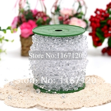 120m/lot Clear Crystal beads String Garland Bridal Beads Wedding bouquet flowers Decor 8mm&3mm(ZZ14)(China)