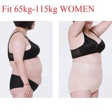 b121734f5f70 Plus Size Body Shaper Control Panties High Waist Trainer Pants Shapewear  Slim Sexy Underpants Bodysuit Tummy
