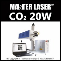 Good Quality Good Service 20w CO2 Laser Marking Machine DW 20W RF Laser With Industrial Computer