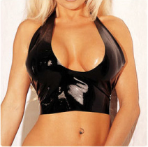 New latex tank top camis bra for sexy women