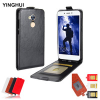Luxury Vertical Flip Case Cover For Huawei Honor 6A Coque Funda Capa Phone Cases PU Leather