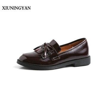 76e05231 XiuNingYan mujeres básicas planos zapatos casuales mujer Zapatillas de  charol mocasines zapatos ...