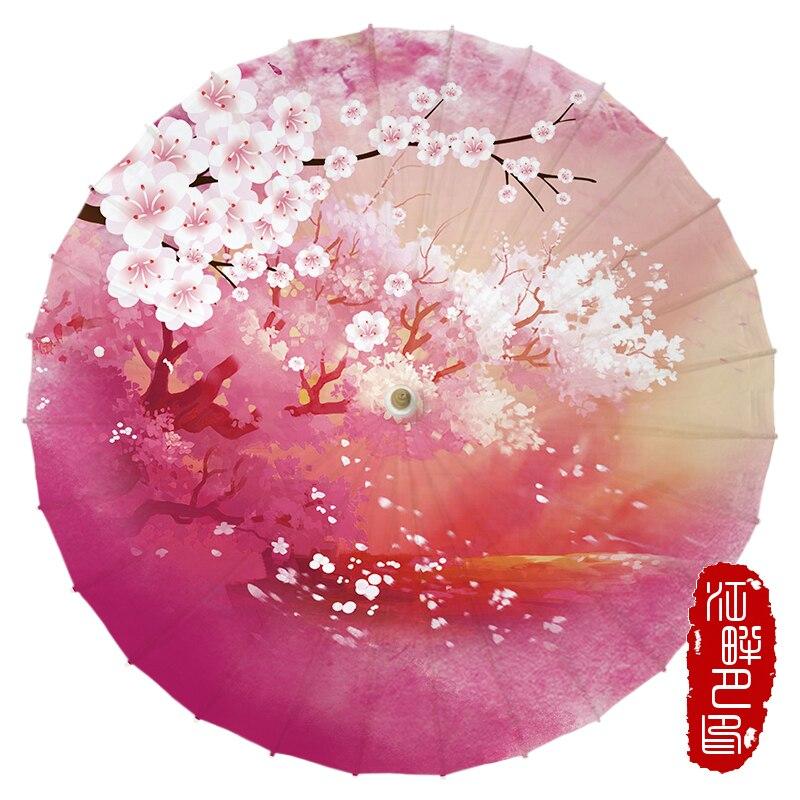 JPY Craft Oiled Paper umbrella Women Dance decorative Chinese umbrella Japanese performance props Vintage Retro Parasol