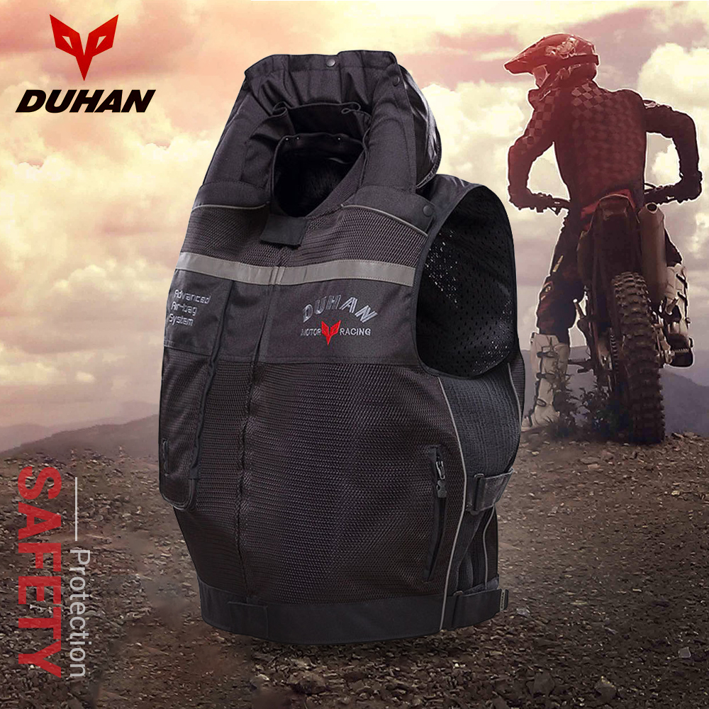 DUHAN Motorcycle Air bag Vest Cylinder Motorcycle Jacket Reflective Vest Professional Advanced Air Bag System Protective