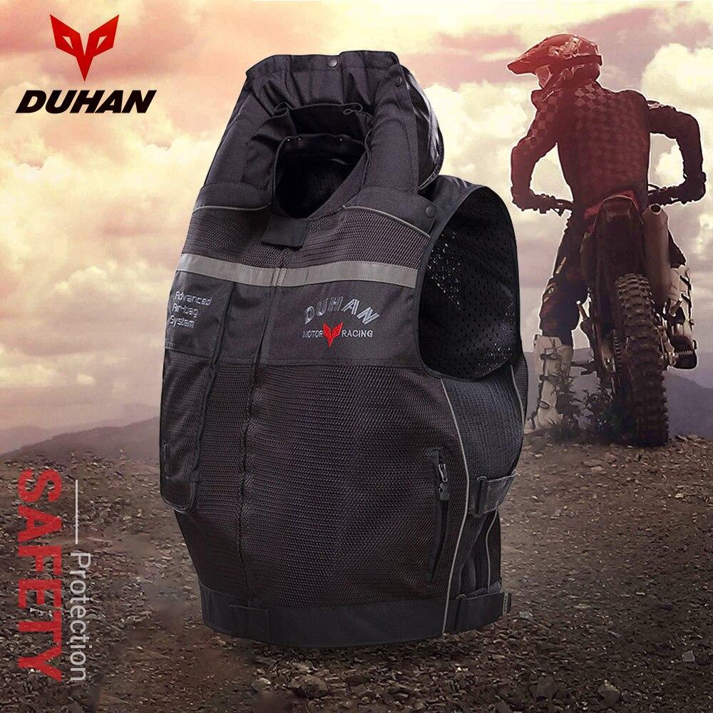 DUHAN motocicleta Air-bag chaleco cilindro motocicleta chaleco reflectante Profesional avanzado sistema de bolsas de aire equipo de protección #