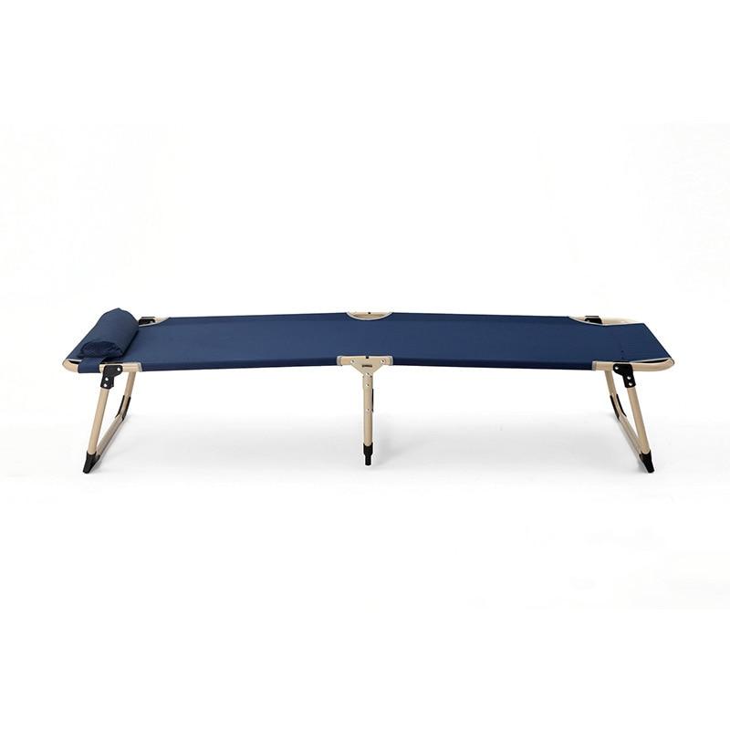 Multifunctional Sun Loungers Office Household Leisure Folding Chair Noon Break Single Bed Balcony Beach Chairs - 3