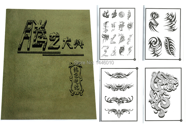 Yuelong  Newest  Popular Tattoo Flash Book Magazine A4 Size Free Shipping