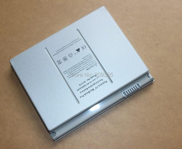 "Apple Macbook pro 15 ""용 충전식 60WH 배터리 A1175 A 1175 MA348G/A M6099"