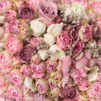 HUAYI 8x8ft seamless pink folwers backdrop photography curtain decorations vinyl backdrops floral background paper D 8059
