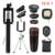 12in1 Kits 8x Zoom Telefoto Lentes Fisheye Lente Grande Angular Macro lentes clipe tripé selfie flash light para iphone 5 6 s 7 huawei