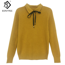 2018 Autumn New Arrival Women's Shirt Sweet Knitted Full Sleeve Turn-down Collar Korean Style Tops Elegance Hot Sale T80424Q