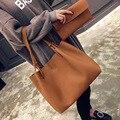 Saco de lazer saco bolsa tote bag lady bolsa de ombro sólida solto mãe feminino Satchel