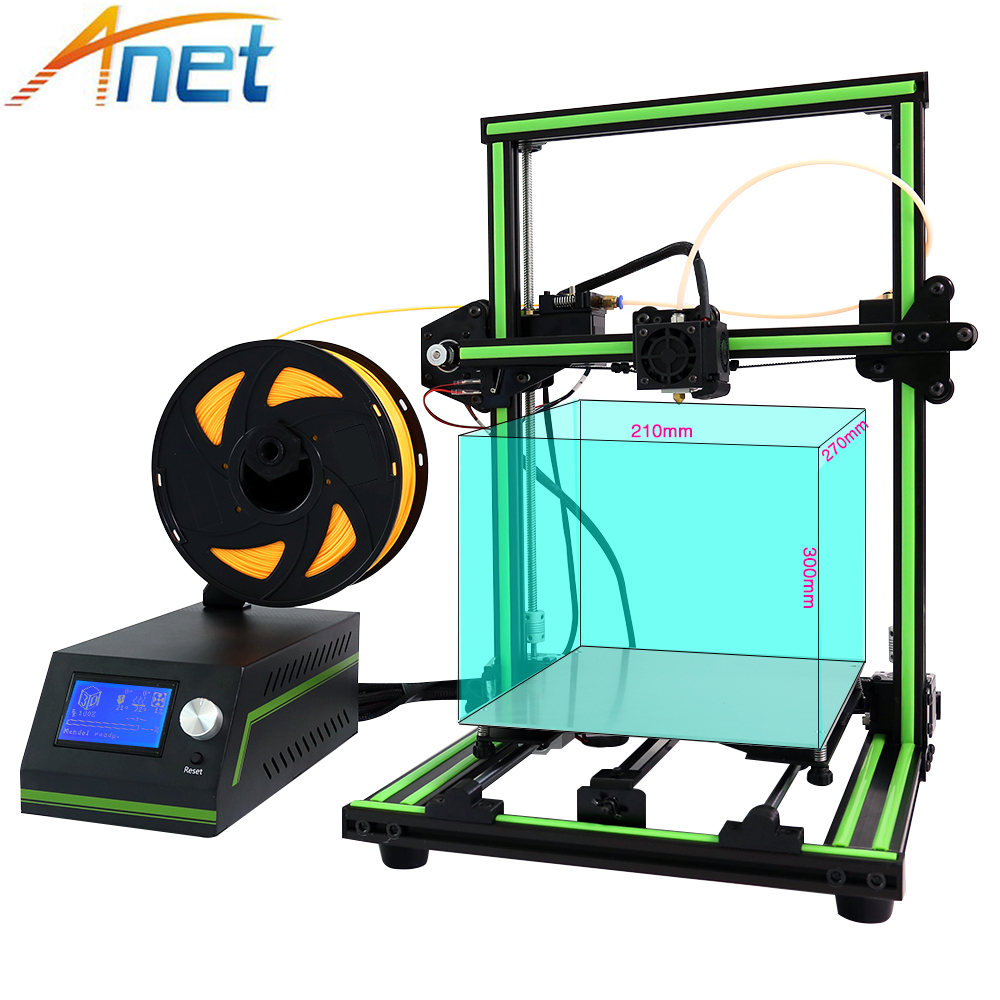 Anet E10 E12 3D Printer High precision Desktop 3D Printer Kits Reprap DIY Kit Set Off-line Printing Large Size with Filament anet high precision auto leveling 3d printer big size lcd 2004 220 270 220mm metal 3d printer kit with 10m filament sd card
