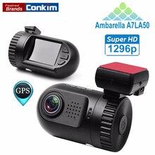 Оригинальный автомобиль цифровой видео Камера мини 0805 Ambarella A7LA50 Процессор Super HD 1296 P Автомобильный видеорегистратор GPS Logger регистраторы рекордер SOS ADAS