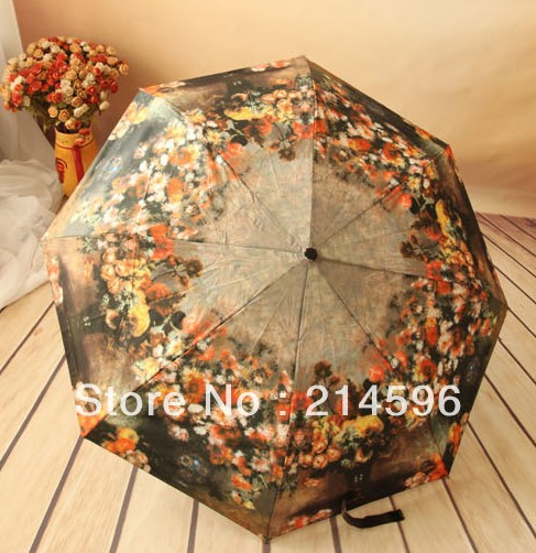 Ölgemälde-dreifacher Regenschirm structurein königlicher - Haushaltswaren - Foto 1