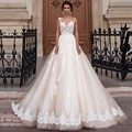 Vintage Arabic Princess Wedding Dresses Lace Turkey Women Country Western Bridal Gowns 2016 Pearls Sash Tulle Champagne