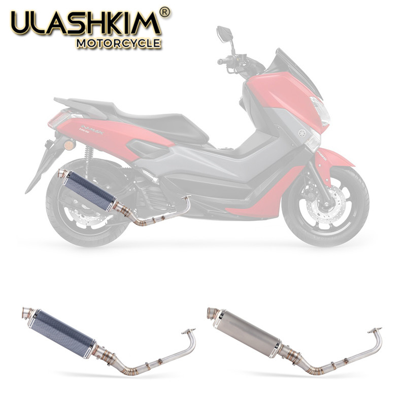 Modified Front Middle Link Pipe Scooter Exhaust Muffler Escape Full System Slip-On For yamaha NMAX155 NMAX 155 2015-2017