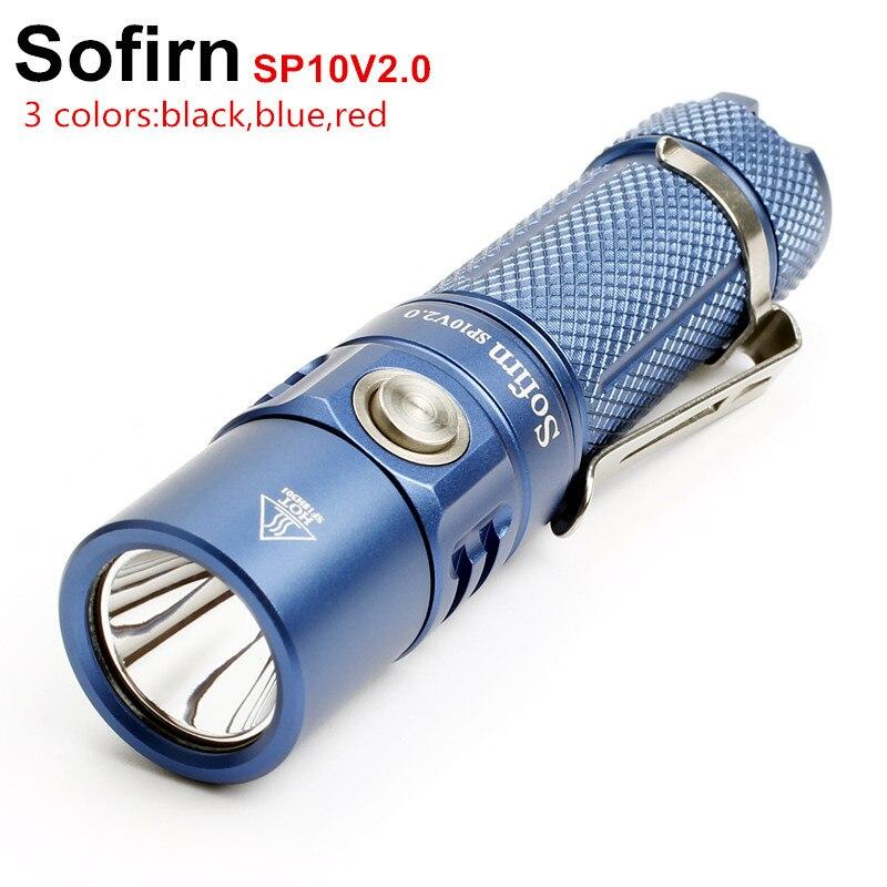 Sofirn New SP10 V2.0 LED Flashlight AA 14500 Flashlight EDC Pocket Light Cree XPG2 550lm OPR Keychain Light 6 Modes Waterproof sofirn sf12 powerful led flashlight aa 14500 torch light penlight cree xpg2 led edc lamp3 modes lanterna led compact flashlight