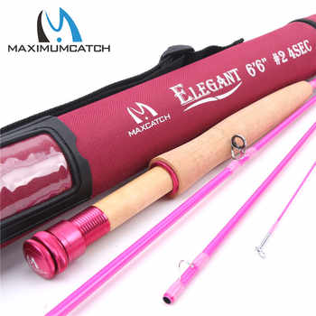 Maximumcatch 6.5FT/9FT Pink Fly Rod 30T Carbon Fiber Medium-Fast Fly Fishing Rod 2/5WT 4Pieces For Ladies - DISCOUNT ITEM  48% OFF Sports & Entertainment