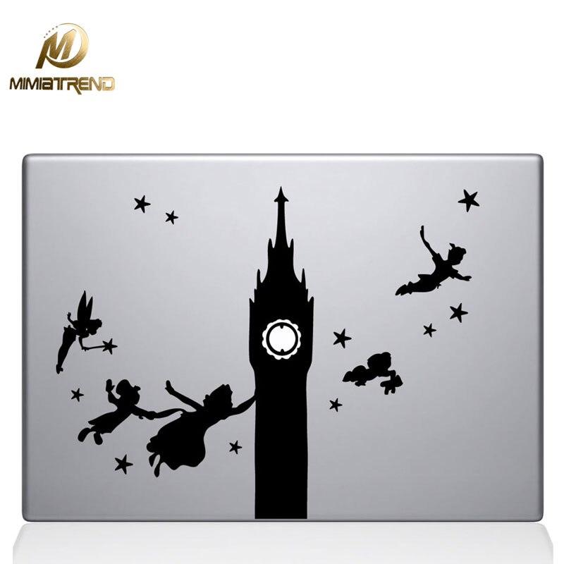 Mimiatrend Peter Pan Decal laptop Sticker for Macbook Pro Air Retina 11 13 15 Inch Mac Case Cover Skin Sticker Adesivo Pegatina