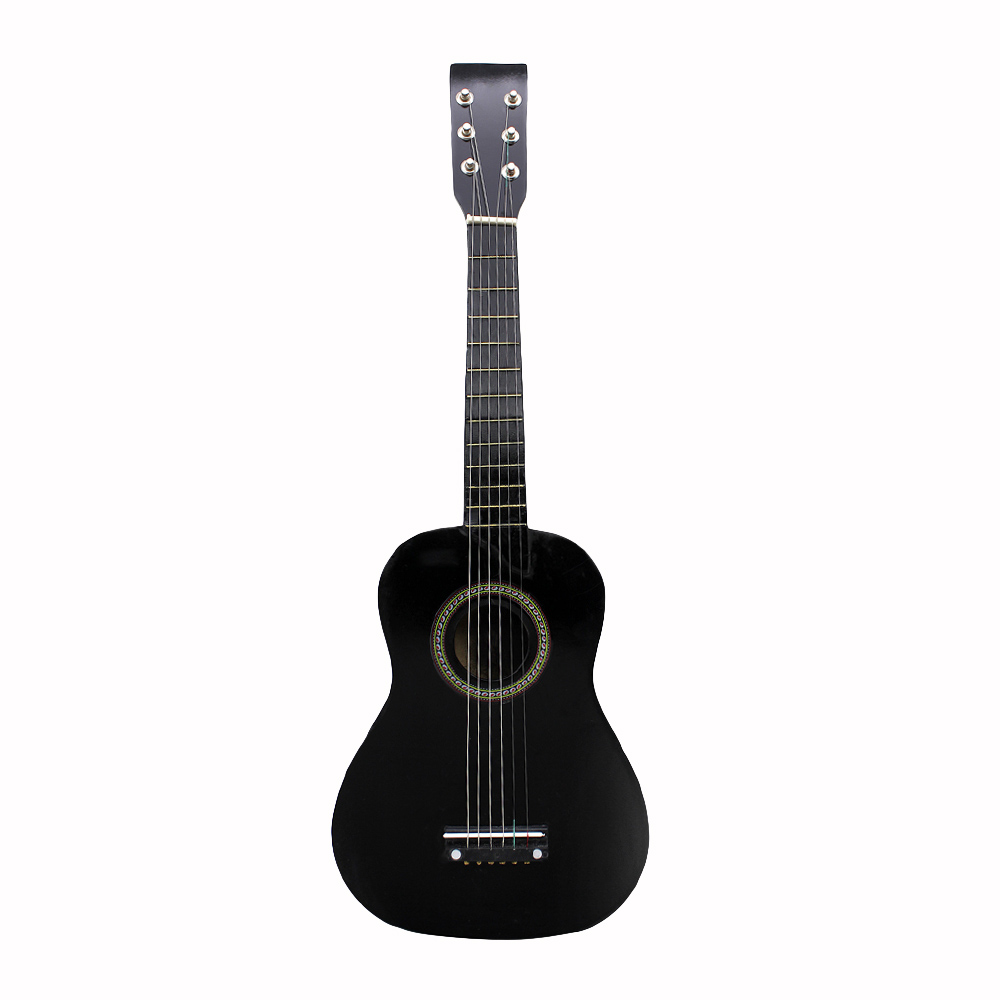 23 inch Black Basswood Acoustic Guitar With Guitar Pick Wire Strings  Musical Instruments for Children Kids Gift-in Ukulele from Sports &  Entertainment on ...