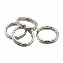 Simpleyi 50pcs/lot Stainless steel ring link Carp Double circle Fishing Round Rig Ring Fishing Tackle Accessories