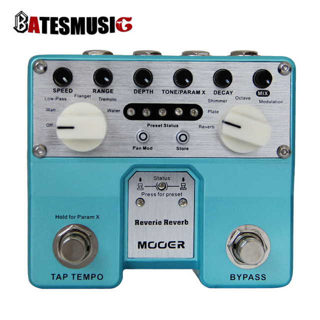 Cheap MOOER Twin Series Reverie Reverb Digital Reverb Pedal with Five Reverb Modes