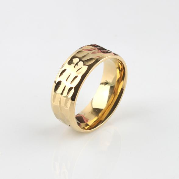 free shipping section 8mm gold color rings 316L Stainless Steel finger ring men women jewelry wholesale