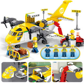 358pcs Children\'s building blocks toy Compatible Legoingly city Cargo transportation aircraft figures Bricks birthday gifts - SALE ITEM - Category 🛒 Toys & Hobbies
