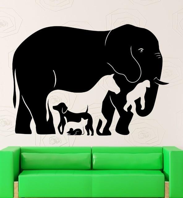 Wall Stickers Animal Elephant Horse Monkey Kids Room Vinyl Decal