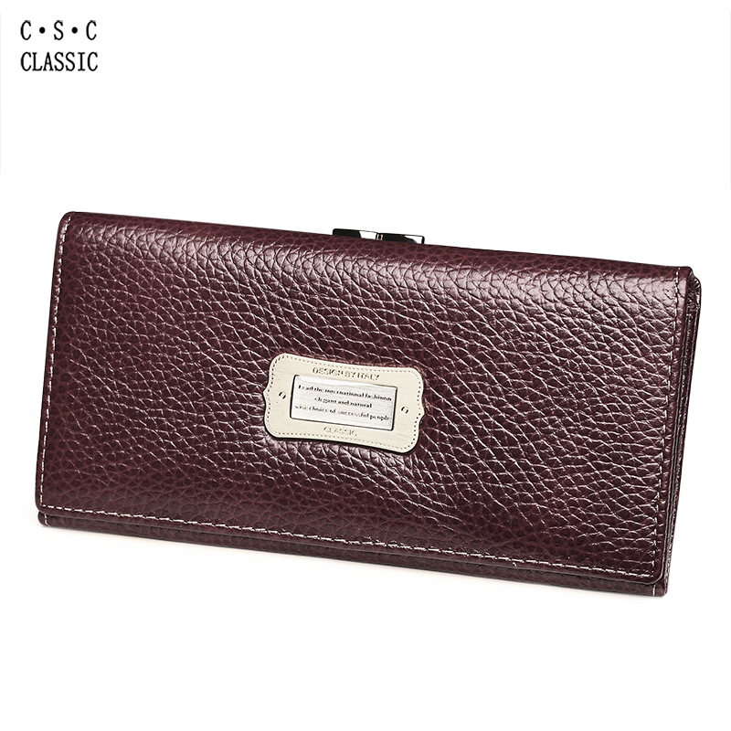 Wallet Women Cards Holders Real Genuine Leather Long Clutch Purple Red Wallets and Purses Portefeuille Femme Carteira Masculina chinese style genuine leather women clutch wallet fashion pattern cards holders brand womens wallets and purses free shipping