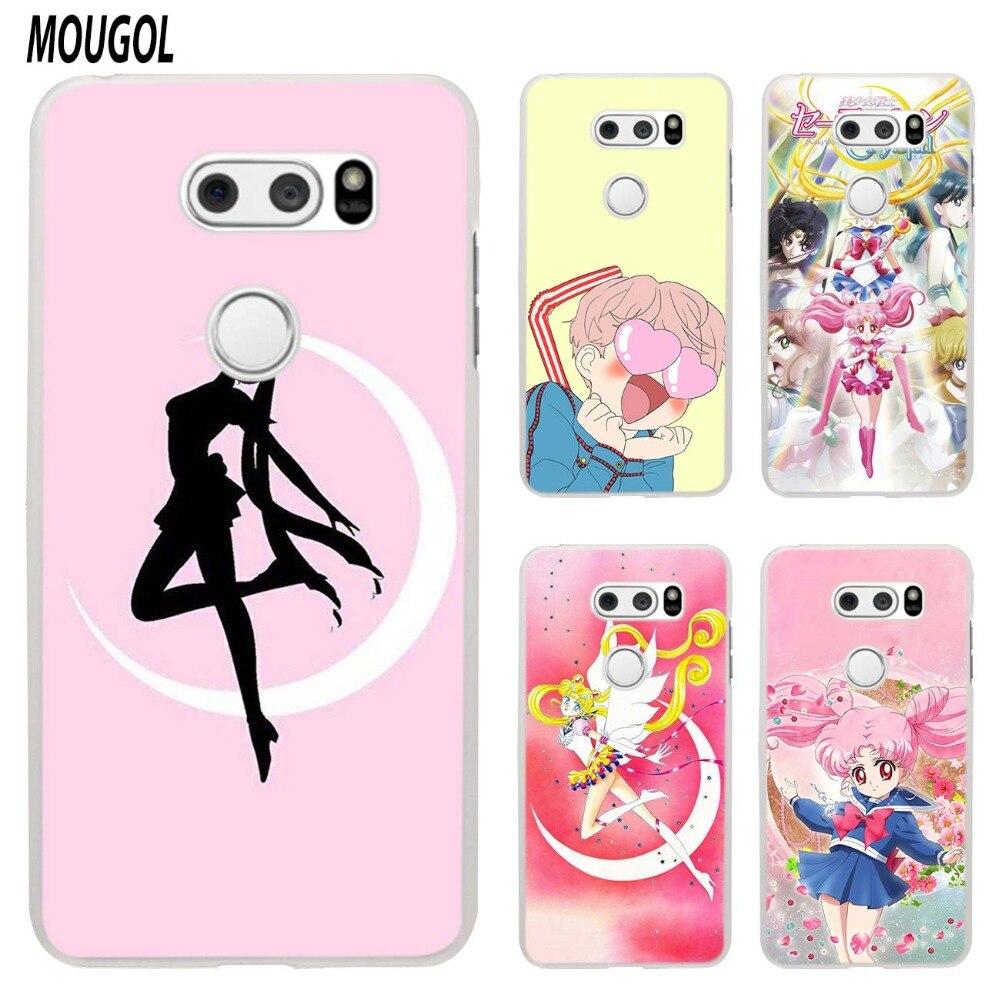 MOUGOL Sailor Moon Anime design transparent hard case cover for LG Q6 G3 G4 G5 G6 K4 K5 K8 K10 V10 V20 V30