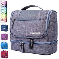 Hot Mildew Proof Cosmetic Bag Dry Wet Separation Travel Wash Storage Bag Large Capacity Waterproof Hook Wash Bag