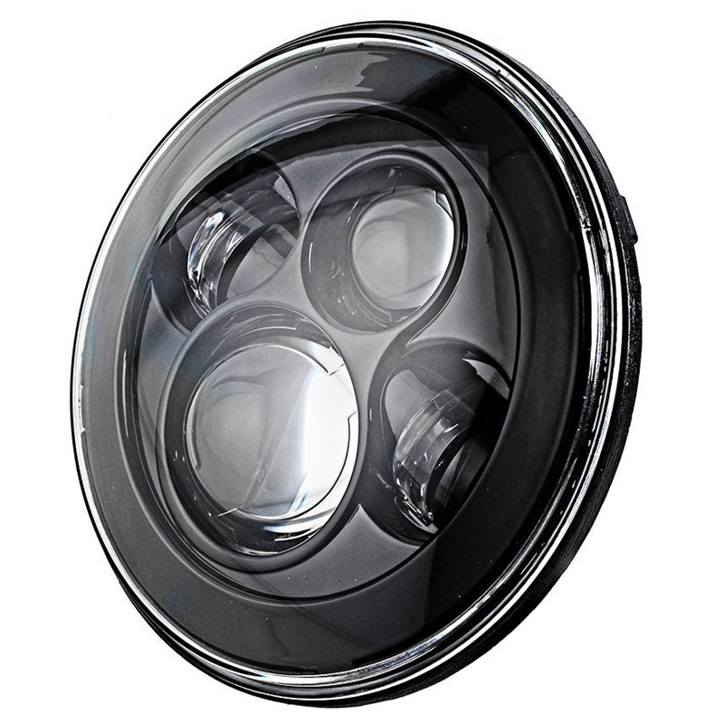 """7"""" Round LED Headlight For Jeep Wrangler 97 15 Hummer Toyota Defender 7 inch LED Projector Driving Lamp for Lada Niva JK CJ LJ-in Car Light Assembly from Automobiles & Motorcycles    2"""